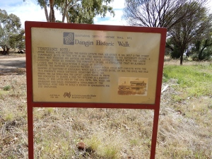 Heritage Trail marker for the Dangin Temperance hotel